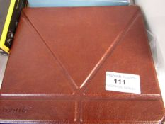 Brown Leather Tablet Case - Packaged.