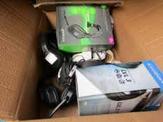 8x Various (Returns) Gaming Headset/Mics - Giotech, PS3/4, Hornet etc - All Untested & Boxed.