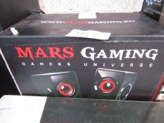 Mars Gaming - Multi-media Speaker MS1 - Untested & Boxed.