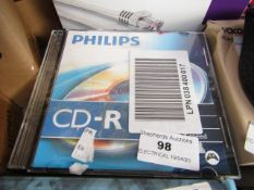 Pack of 9x Philips CD-R, untested.