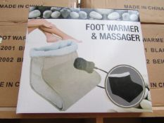 Foot Warmer and Massager - All New and Boxed.