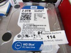 WesternDigital 2TB Hard Drive - (PC) Untested.