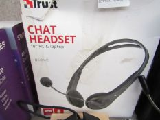 Trust chat headset, untested and boxed.