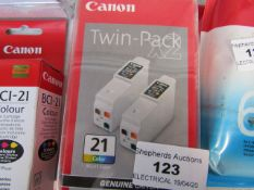 CANON - Twin Pack BCI-21 Colour - Ink Cartridge - Packaged.
