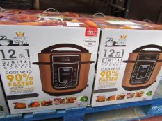 | 1X | PRESSURE KING PRO 12 IN 1 DIGITAL PRESSURE AND MULTI COOKER ROSE GOLD | REFURBISHED AND BOXED