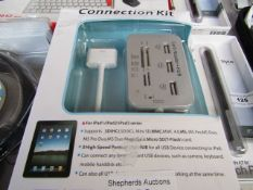 3x Connection Kits - For Ipad 1/2/3 Series - Packaged & Boxed.
