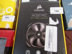 CORSAIR - ML120 PRO - 120mm Magnetic Levitation Fan - Untested and Boxed.