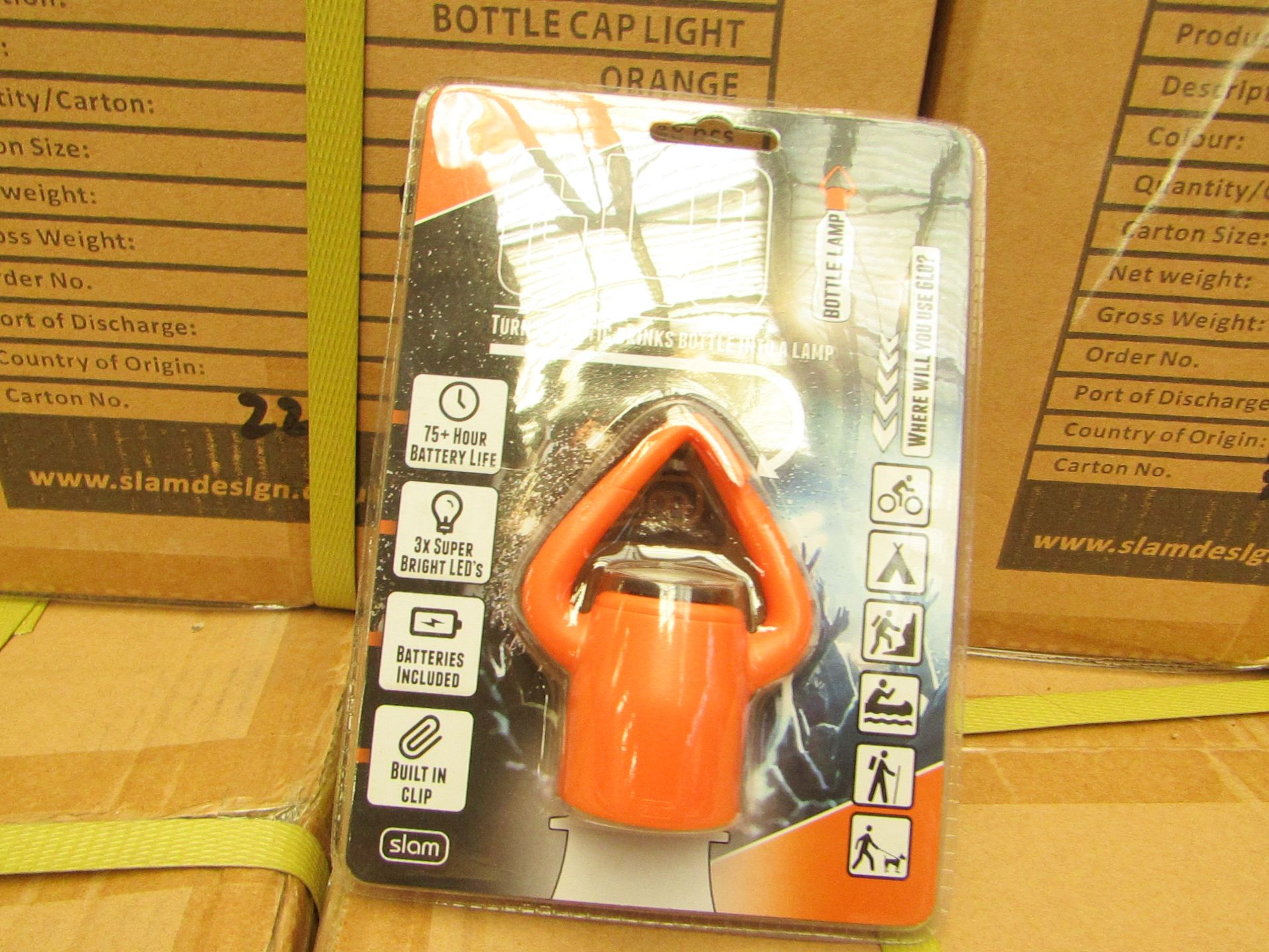 Los 17 - Box Of 48x GLO - Bottle Lamps - All Packaged & Boxed.