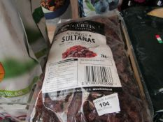 Curtis Catering 2kg Turkish Sultanas.