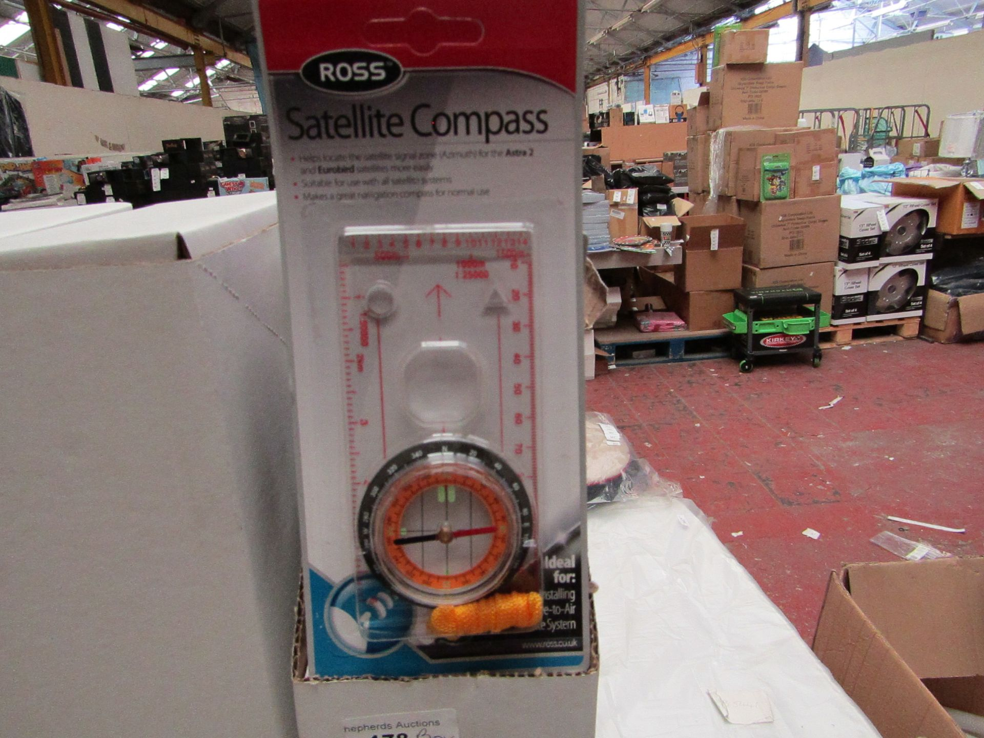 Lot 182 - Box of 10 Ross Satellite Compass'. Unused & Boxed