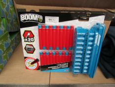 Boomco X20 Mad Slammer Clip & Darts. New & Packaged