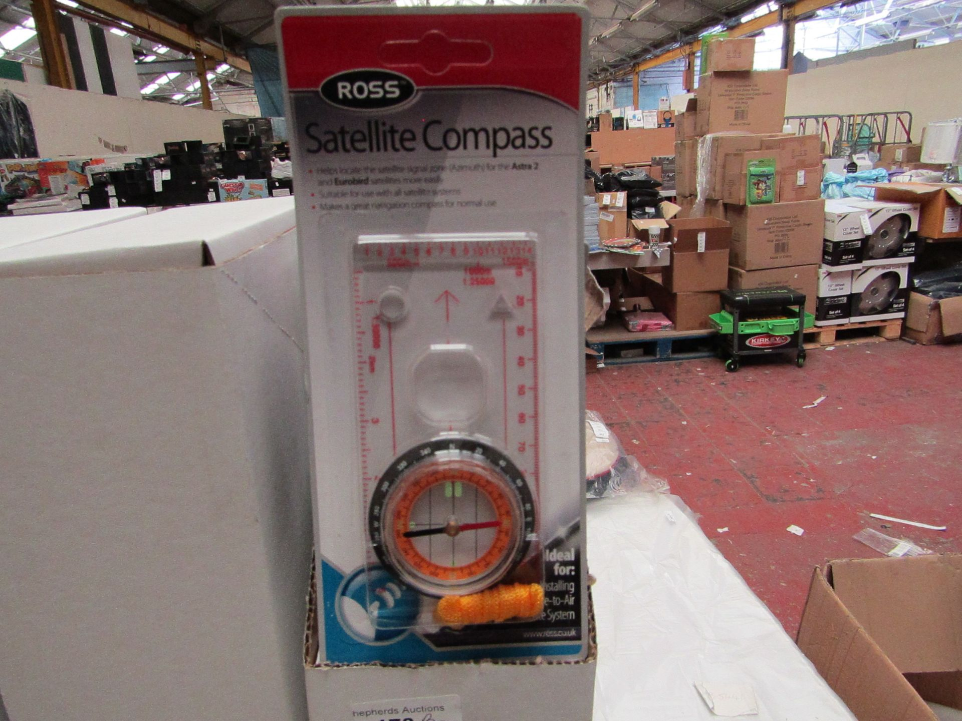 Lot 180 - Box of 10 Ross Satellite Compass'. Unused & Boxed