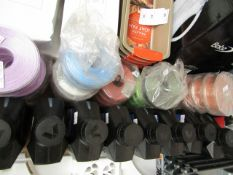 Approx 30 Various Colours 25M Rolls of Ribbon. Unused