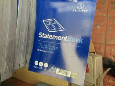 8 Packs of 5 Challenge Duplicate Statement Books. 50 Pages in each.In Sealed Packets
