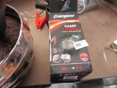 Energizer 4 Amp 9 Step Smart Car Battery Charger. Boxed but untested