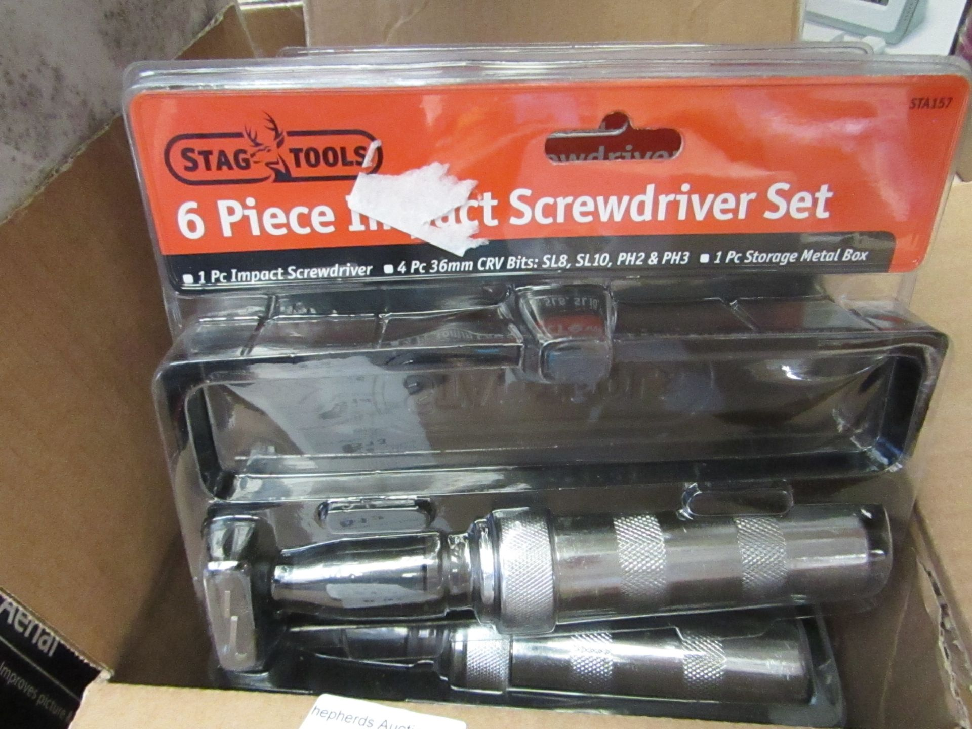 Lot 616 - Stag tools 6 Piece Impact Screwdriver Set. New & Packaged
