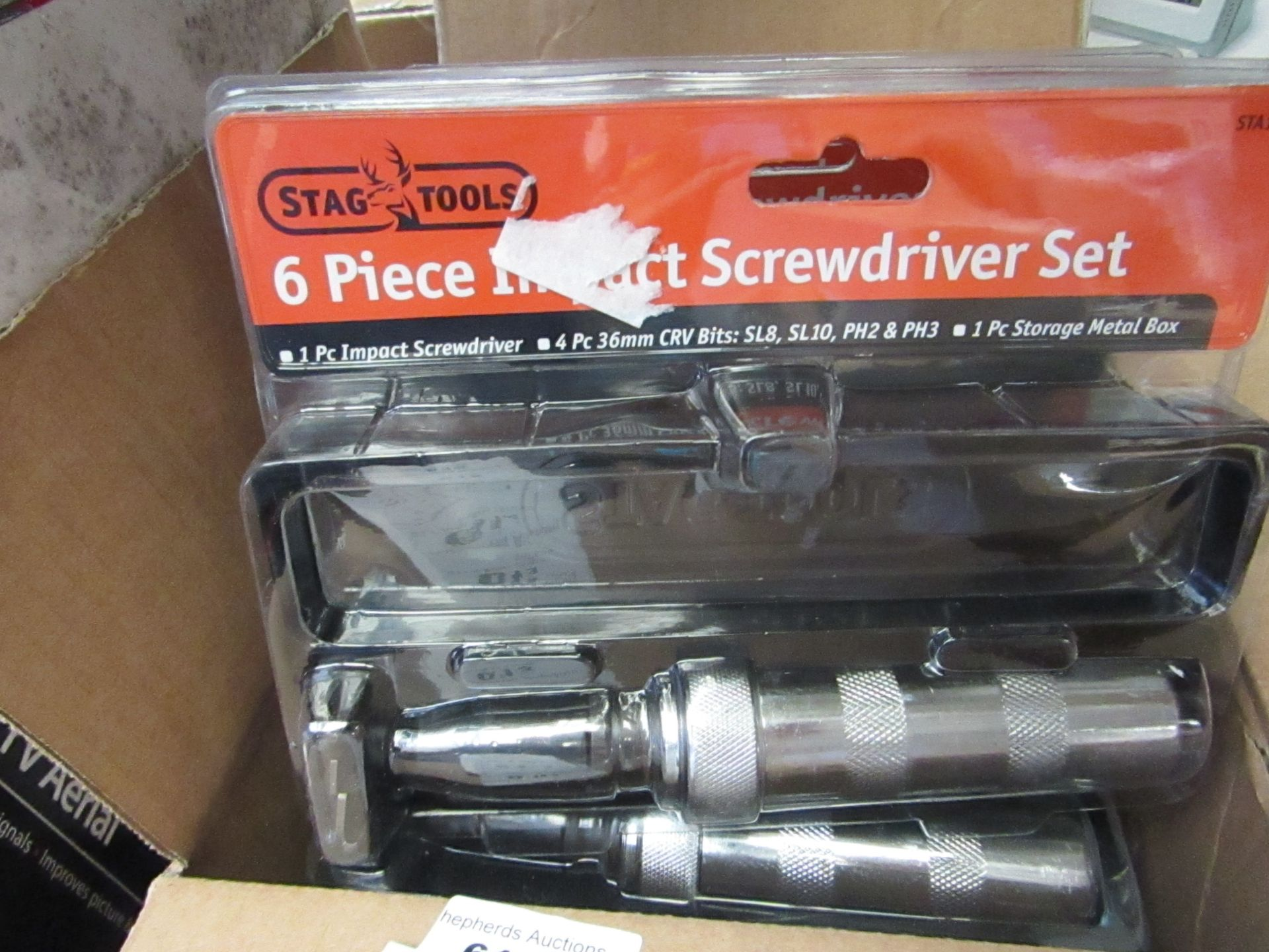 Lot 613 - Stag tools 6 Piece Impact Screwdriver Set. New & Packaged