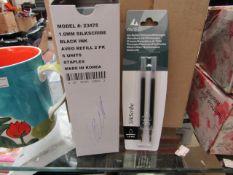 72 x 1mm Black Ink Refills. Unused & packaged