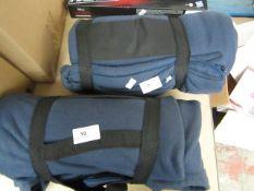 Polar Fleece Sleeping Bag/Picnic Blanket. Unused & Comes with Straps & Handle.