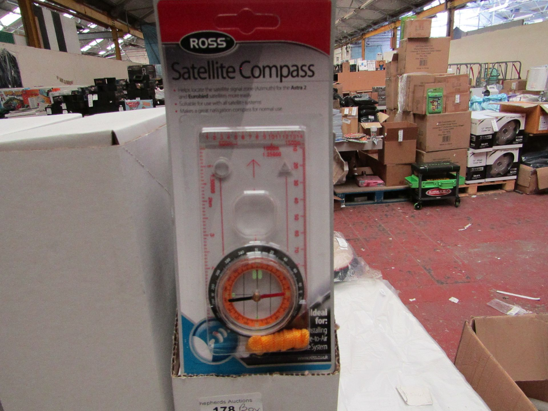 Lot 181 - Box of 10 Ross Satellite Compass'. Unused & Boxed