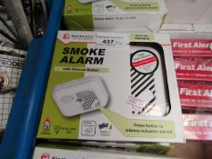 4 x Electronice Ei100S Smoke Alarms with batteries. New & Boxed