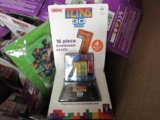 Ideal Tetris 3D 16 Piece Brainteaser Puzzle. New & Packaged