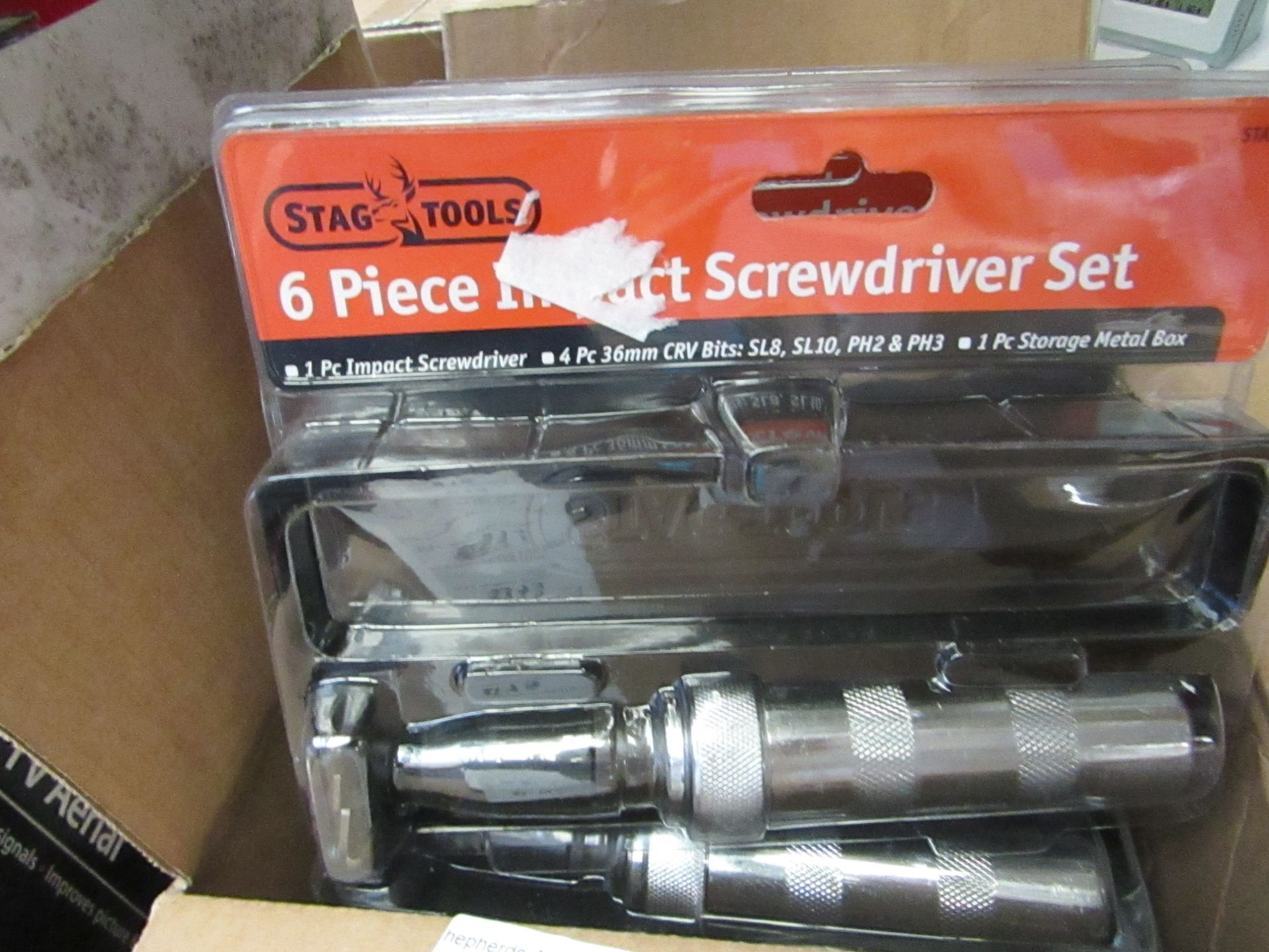 Lot 612 - Stag tools 6 Piece Impact Screwdriver Set. New & Packaged