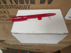 Box of Approx 50 black Ink Pens. Unused & Boxed. See Image For design