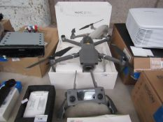 DJI Mavic 2 Pro 4K drone and controller with accessories, drone powers on but controller untested