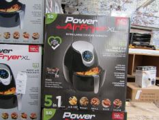 | 6X | POWER AIR FRYER 5L | UNCHECKED AND BOXED | NO ONLINE RE-SALE | SKU C5060191466936 | RRP £99.
