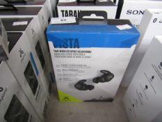 JayBird Vista true wireless sport headphones, untested and boxed. RRP £159.99