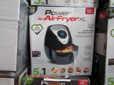 | 1x | POWER AIR FRYER XL 3.2LTR | UNCHECKED AND BOXED | SKU C5060191468053| NO ONLINE RESALE |