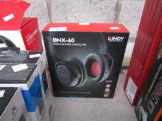 Lindy BNX-60 wireless noise cancelling headphones, untested and boxed. RRP £69.99