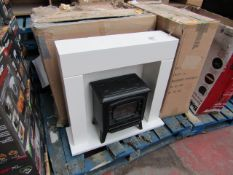 EGL small stove fire suite, unchecked and boxed. RRP £99.99 Please note, picture is for display