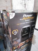 | 3X | POWER AIR FRYER COOKER 5.7LTR | UNCHECKED AND BOXED | SKU C5060541513068 | RRP £149.99 |