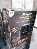 | 4X | POWER AIR FRYER COOKER 5.7LTR | UNCHECKED AND BOXED | SKU C5060541513068 | RRP £149.99 |
