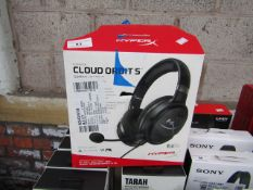 Hyper X Cloud Orbit 5 universal gaming headphones, features noise cancelling mic, untested and