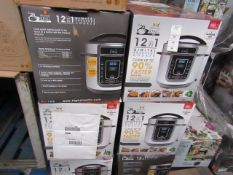 | 5X | 12 IN 1 DIGITAL PRESSURE COOKERS | UNCHECKED AND BOXED | NO ONLINE RESALE | RRP £59.99 |TOTAL