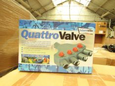 Streetwize quattro valve, 4 way valve air awning tent inflation adapter kit, new and boxed.