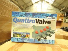 6x Streetwize quattro valve, 4 way valve air awning tent inflation adapter kit, new and boxed.