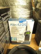 Midland Alan 42DS radio, untested and boxed.
