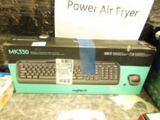 Logitech MK330 wireless combo keyboard and mouse, boxed and unchecked