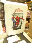 Small Kids Spiderman Suitcase On Wheels With Pull Out Handle. Looks New with no Damage