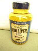 250 Soft Gel Capsules of Holland & Barrett Cod liver Oil 410mg with Omega 3 & Vitamins A & D. new In