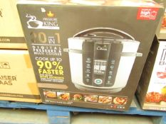 | 1X | PRESSURE KING PRO 20 IN 1 DIGITAL PRESSURE AND MULTI COOKER | UNCHECKED AND BOXED | NO ONLINE