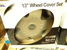 """Set of 4 Wheel Trims. 13"""". Look New & Boxed"""
