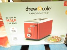 | 1X | DREW AND COLE 2 SLICE RAPID TOASTER | UNCHECKED AND BOXED | NO ONLINE RE-SALE | SKU - |