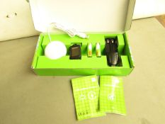 5x 5 Piece energy saving kit with rechargeable batteries, new and boxed.