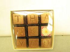 "5 x Choconchoc "" Thank You"" Set of 9 Chocolates in each Box..110g Each Box. New"