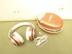 Tuiny Headphones in Carry case & Cables. Tested Working